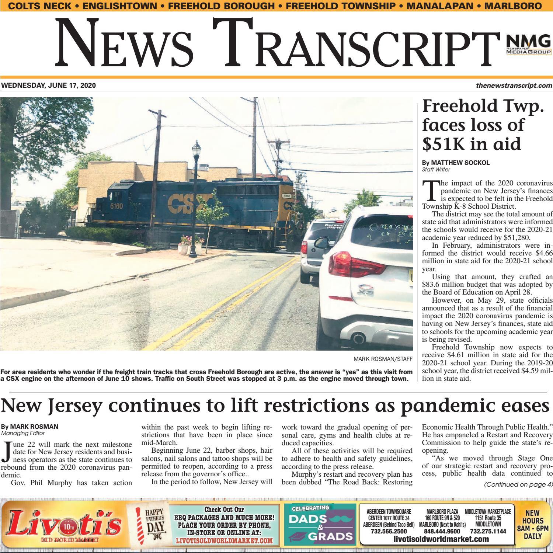 News Transcript 6 17 2020 By Centraljersey Com Newspapers Issuu