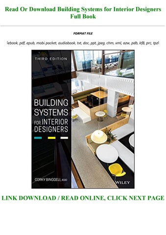 Building Systems For Interior Designers By Whitney123239 Issuu