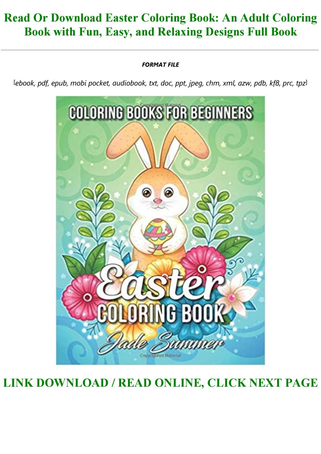 - Easter Coloring Book: An Adult Coloring Book With Fun, Easy, And