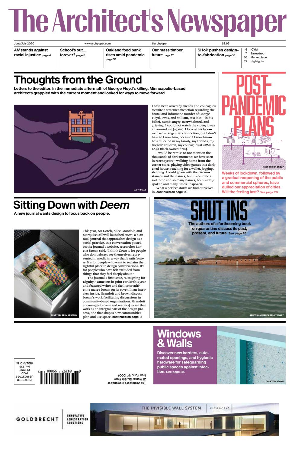 An June July 2020 By The Architect S Newspaper Issuu