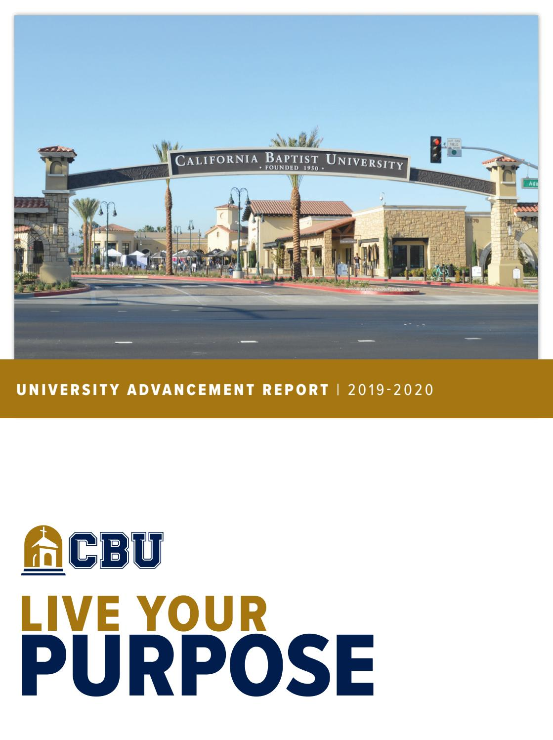 Cbu University Advancement Report 2019 2020 By California Baptist University Issuu