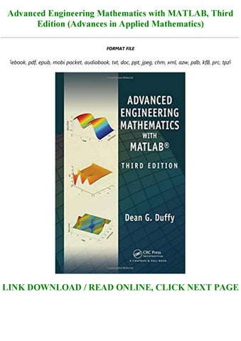 Advanced Engineering Mathematics With Matlab Third Edition Advances In Applied Mathematics By Mohamedwauters347 Issuu