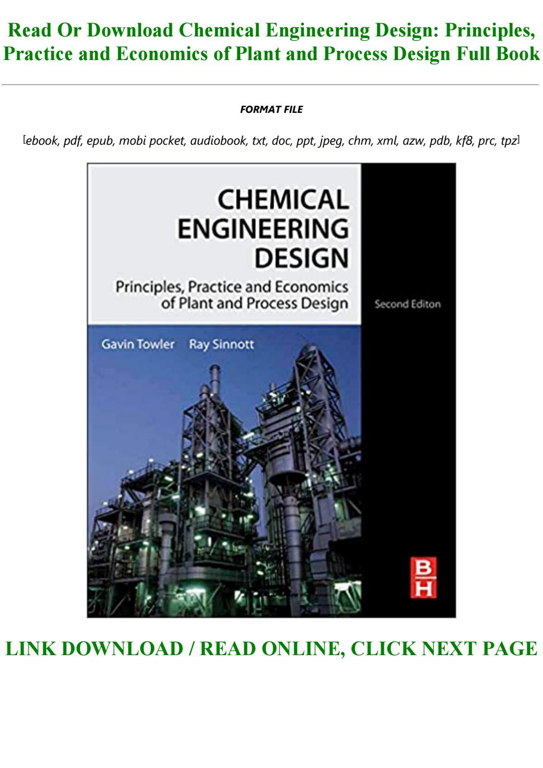 Chemical Engineering Design Principles Practice And Economics Of Plant And Process Design By Tyke146546 Issuu