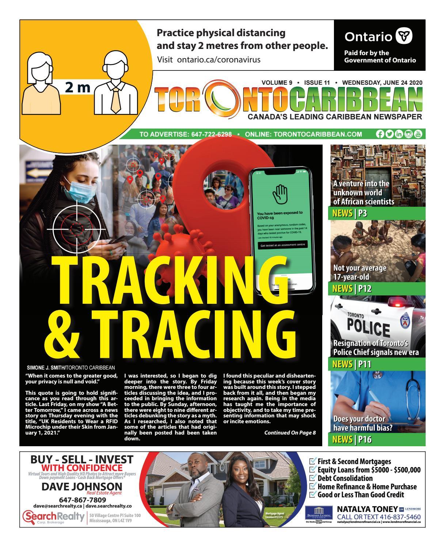 Tracking Tracing 062420 By Toronto Caribbean Newspaper Issuu