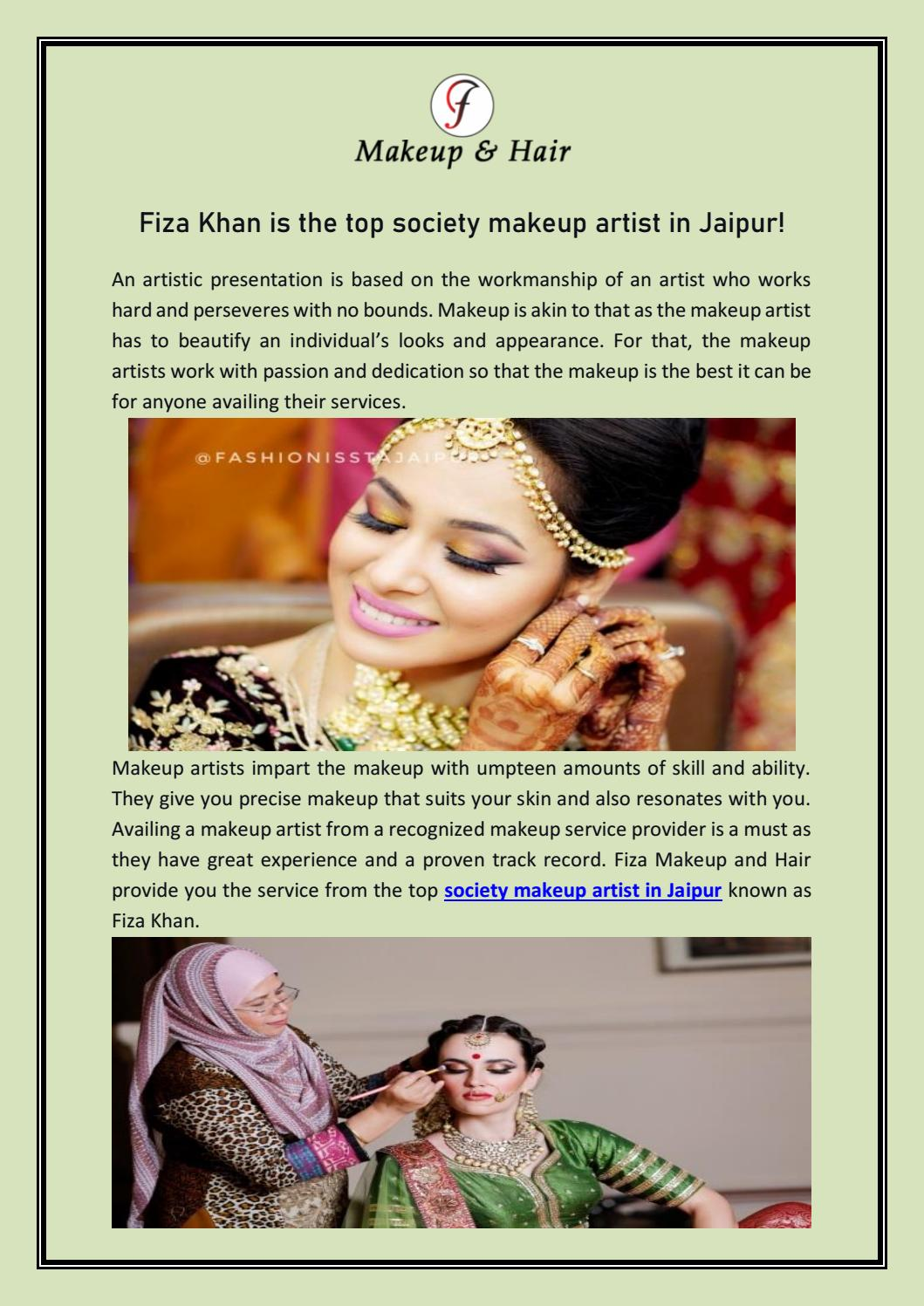 Fiza Khan Is The Top Society Makeup
