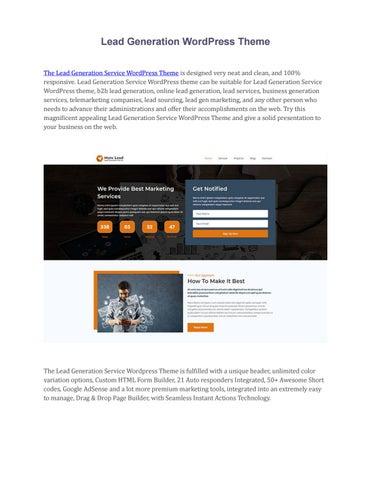 Real estate lead generation wordpress theme