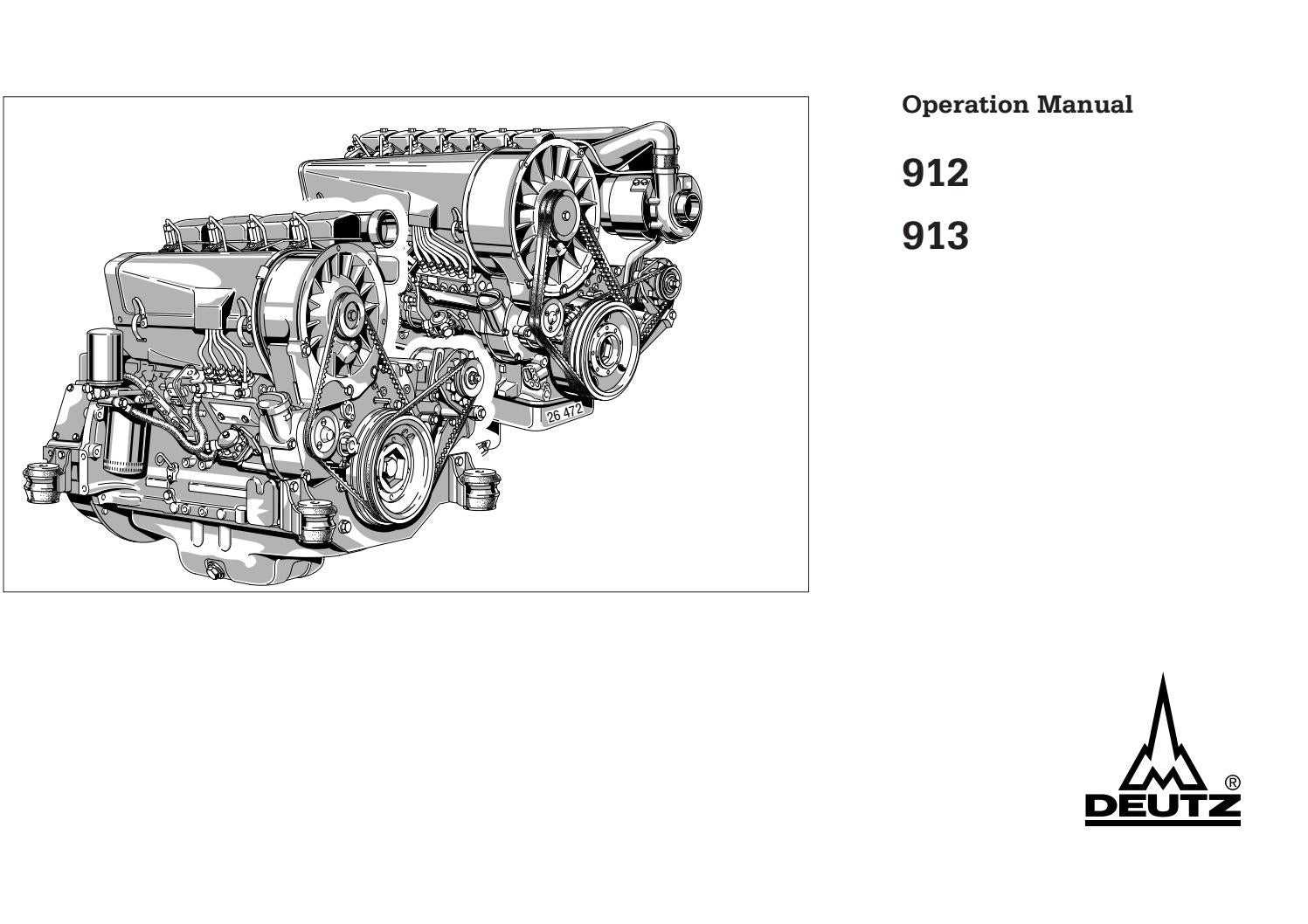 912W Motor Betriebsanleitung 1985 Deutz F3L F4L F5L F6L 912
