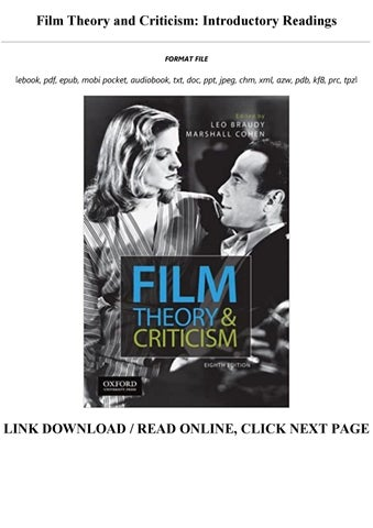 Film Theory And Criticism Introductory Readings Full By Shimala Winies85 Issuu
