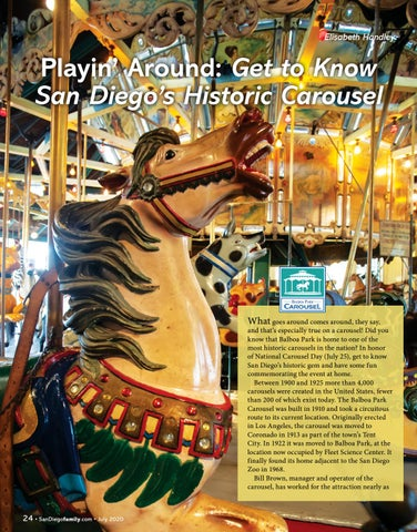 Page 24 of Playin' Around: Get to Know San Diego's Historic Carousel