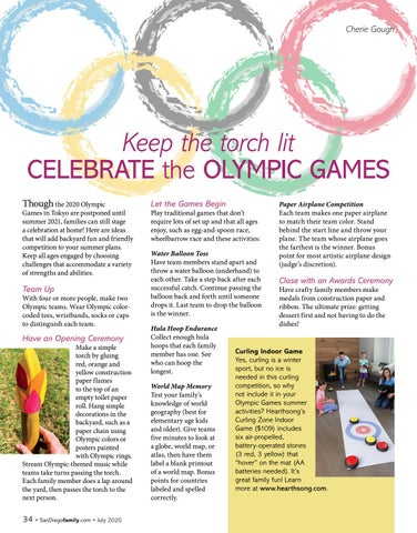 Page 34 of Keep the torch lit CELEBRATE the OLYMPIC GAMES