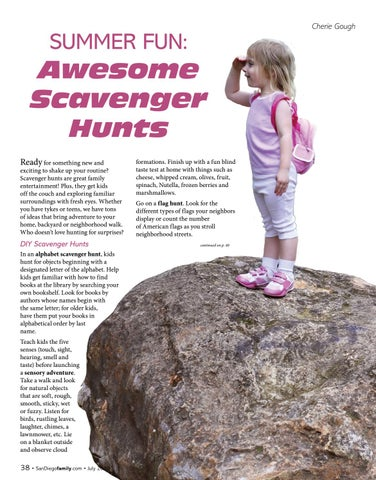 Page 38 of SUMMER FUN: Awesome Scavenger Hunts