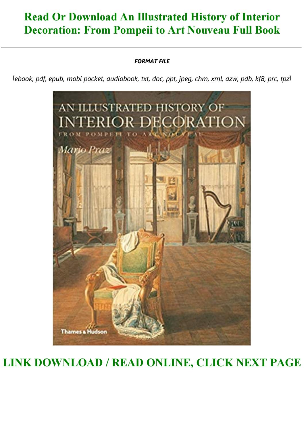 An Illustrated History Of Interior Decoration From Pompeii To Art Nouveau By Maliyah123247 Issuu