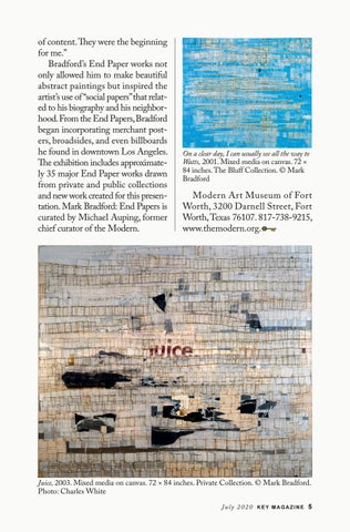 Page 5 of Mark Bradford: End Papers at the Modern Art Museum of Fort Worth