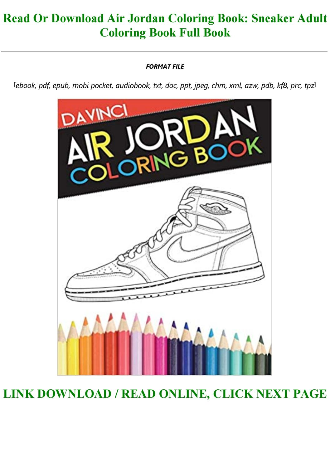 - Air Jordan Coloring Book: Sneaker Adult Coloring Book By