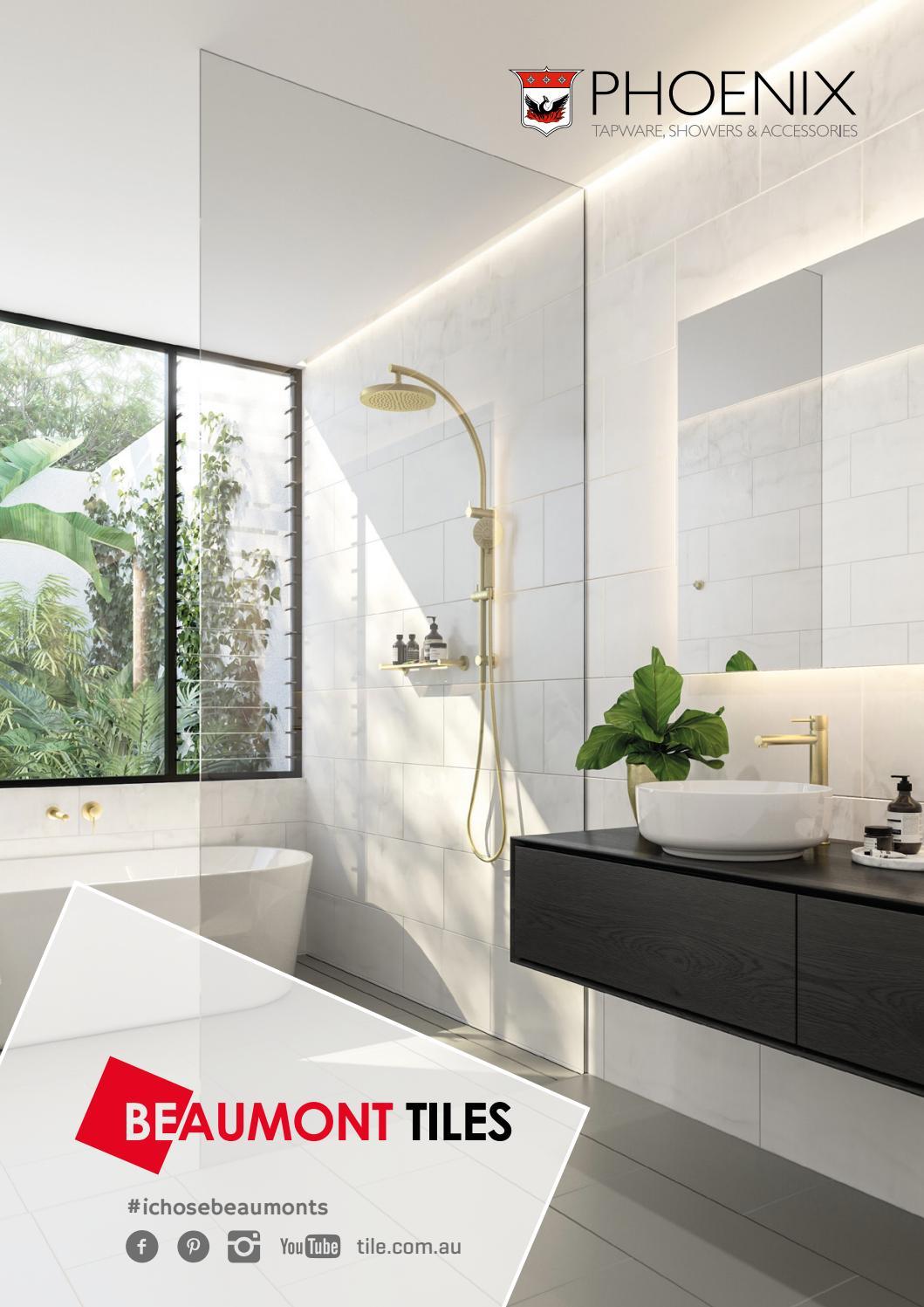 PHOENIX Vivid Slimline Water Through Rail Shower