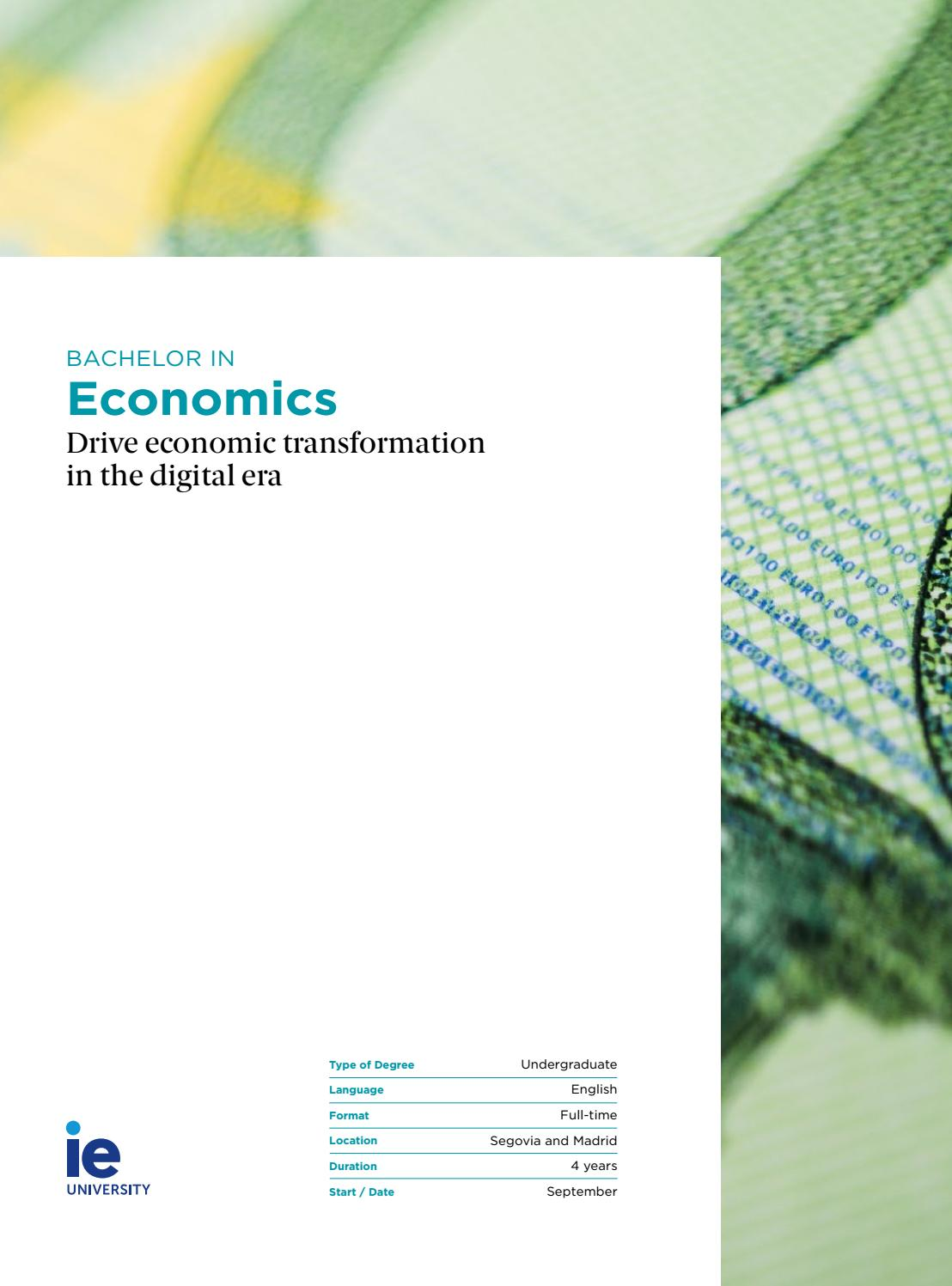 Bachelor In Economics By Ie University Issuu