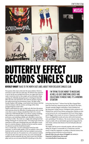 Page 23 of BUTTERFLY EFFECT RECORDS SINGLES CLUB