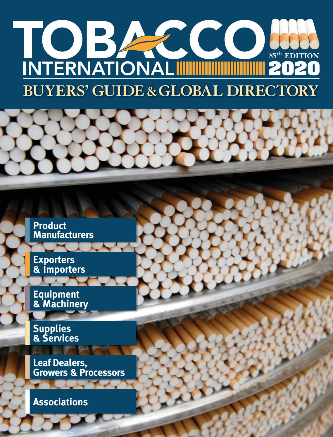 Tobacco International 2020 Buyers Guide Global Directory By Tobacco International Magazine Issuu