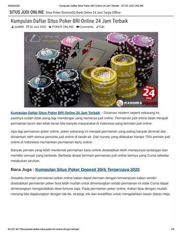 Kumpulan Daftar Situs Poker Bri Online 24 Jam Terbaik By Lexuspoker Issuu