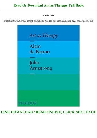art as therapy alain de botton free pdf