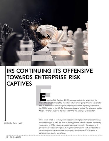 Page 26 of IRS CONTINUING ITS OFFENSIVE TOWARDS ENTERPRISE RISK CAPTIVES