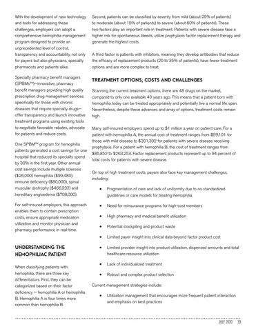 Page 33 of HEMOPHILIA MANAGEMENT PROGRAM HELPS SELF-INSURED EMPLOYERS BATTLE HIGH COSTS