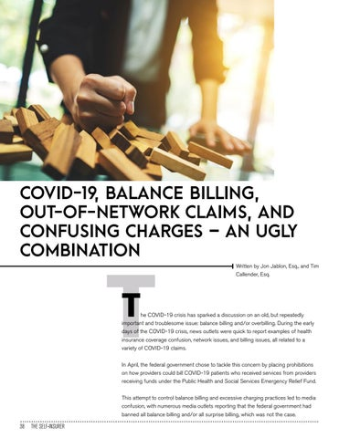 Page 38 of COVID-19, BALANCE BILLING, OUT-OFNETWORK CLAIMS, AND CONFUSING CHARGES – AN UGLY COMBINATION