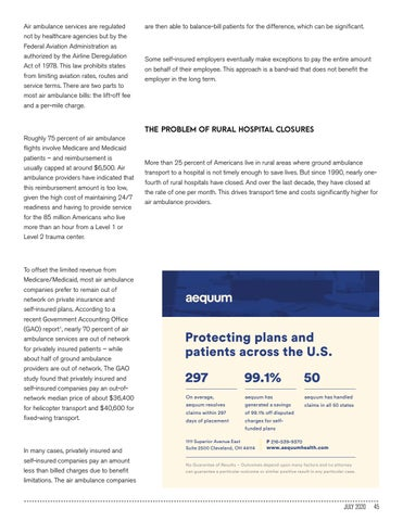 Page 45 of WHY SELF-INSURED EMPLOYERS NEED TO NEGOTIATE AIR AMBULANCE RATES