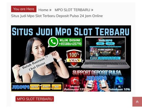 Judimpo Situs Judi Mpo Slot Terbaru 2020 2021 By Judi Slot Game Judimpo Slot Deposit Pulsa 10 Ribu Issuu