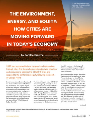 Page 9 of The Environment, Energy, and Equity: How Cities Are Moving Forward in Today's Economy