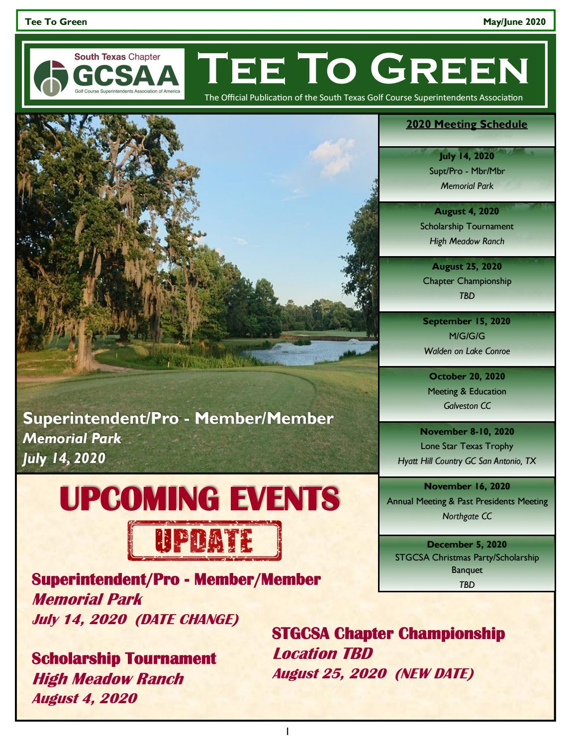 Christmas In July Date 2020 Texas South Texas GCSA, Inc. Tee To Green May/June 2020 Issue by stgcsa