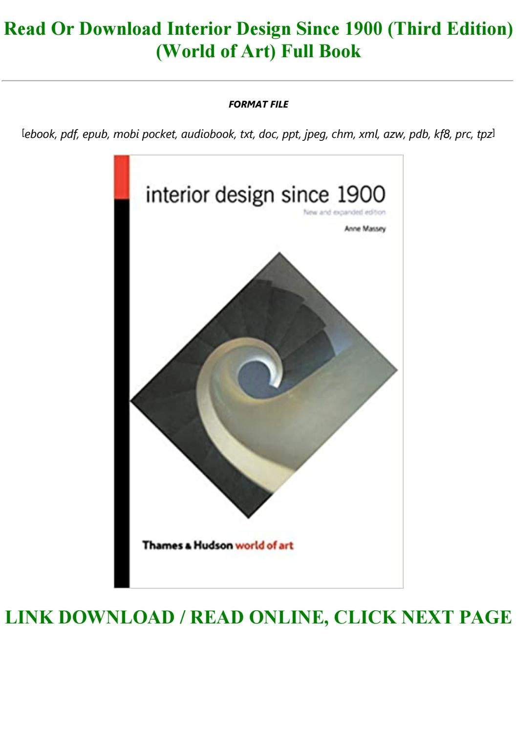 Unlimited Ebook Interior Design Since 1900 Third Edition World Of Art Full Books By Makai4545 Issuu