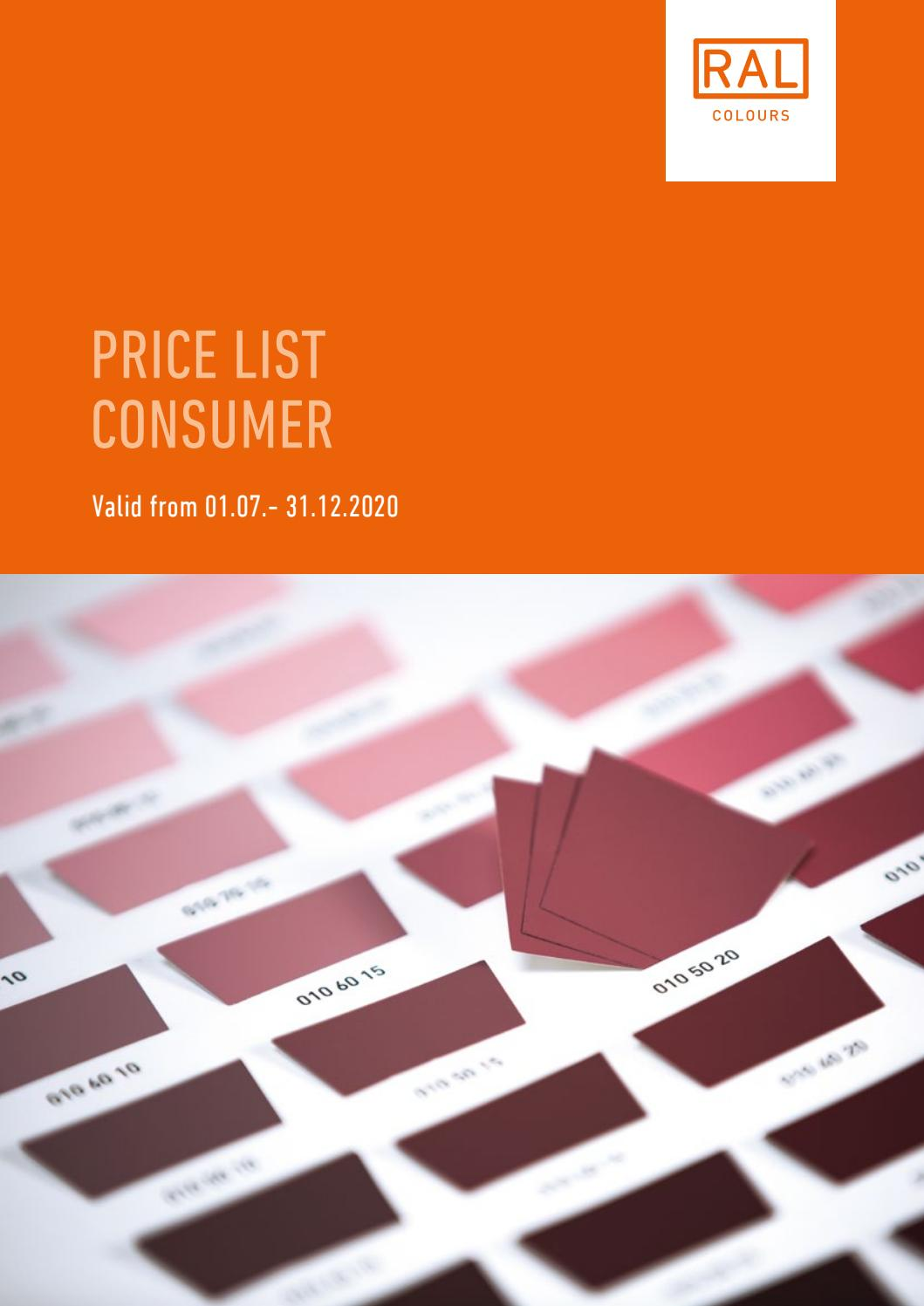 Ral Price List Consumer By Ral E V Issuu