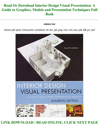 Pdf Epub Interior Design Visual Presentation A Guide To Graphics Models And Presentation Met By Coby123258 Issuu