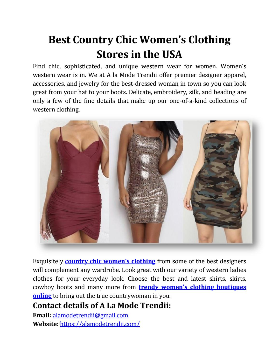 Best Country Chic Women S Clothing Stores In The Usa By Smith007 Issuu