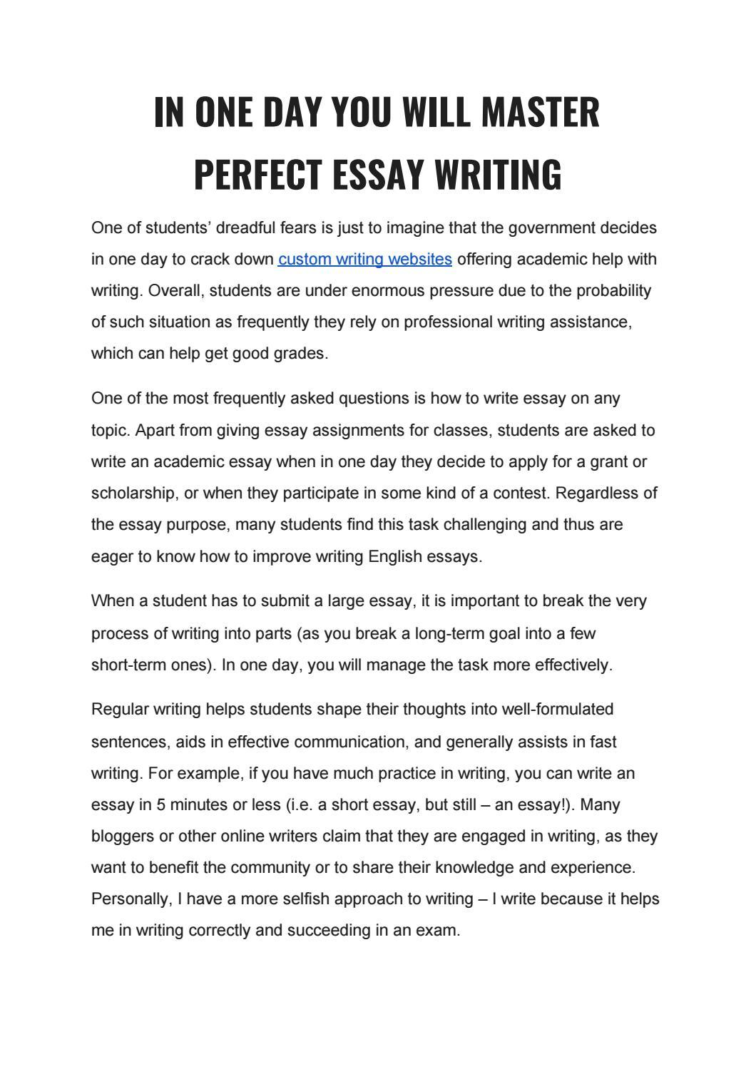 HOW TO WRITE ESSAYS by karen.porter - issuu