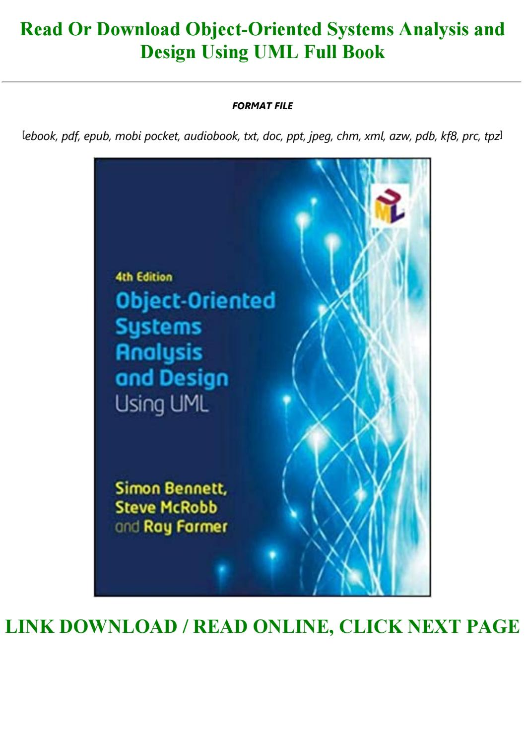 P D F Download Object Oriented Systems Analysis And Design Using Uml Full Audiobook By Izabelle4545 Issuu