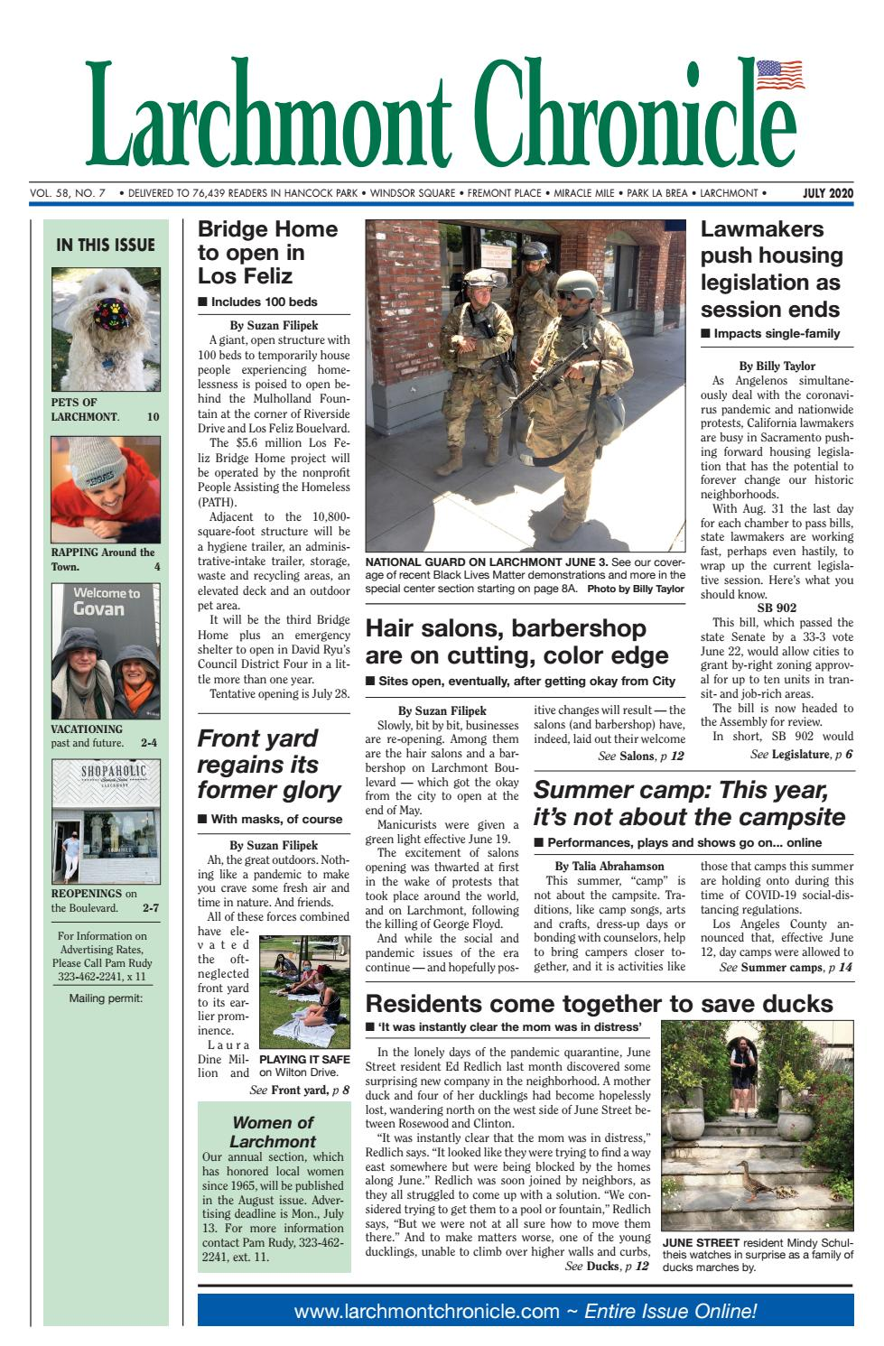 Lc 07 2020 By Larchmont Chronicle Issuu