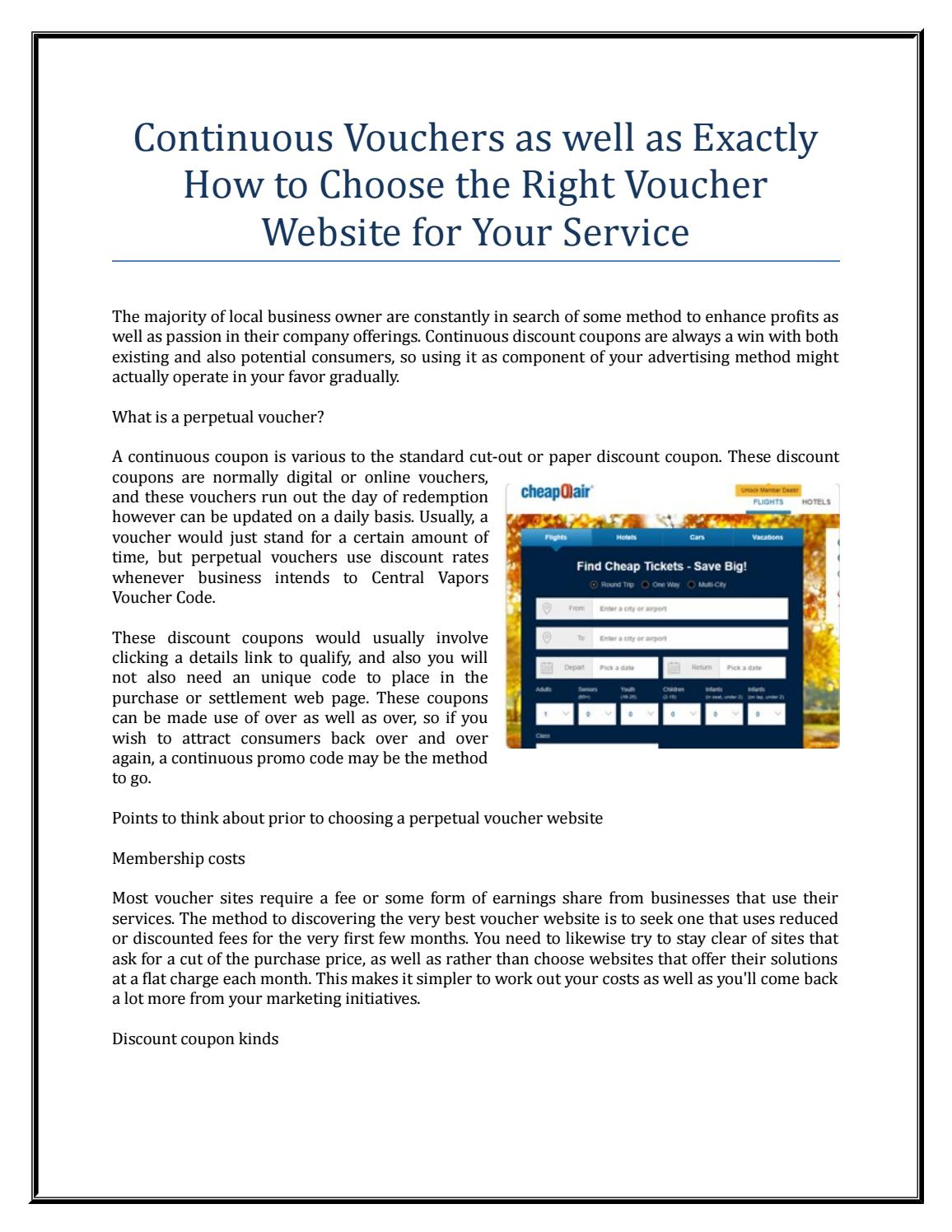 Continuous Vouchers As Well As Exactly How To Choose The Right Voucher Website For Your Service By Trina Mc Michaels Issuu