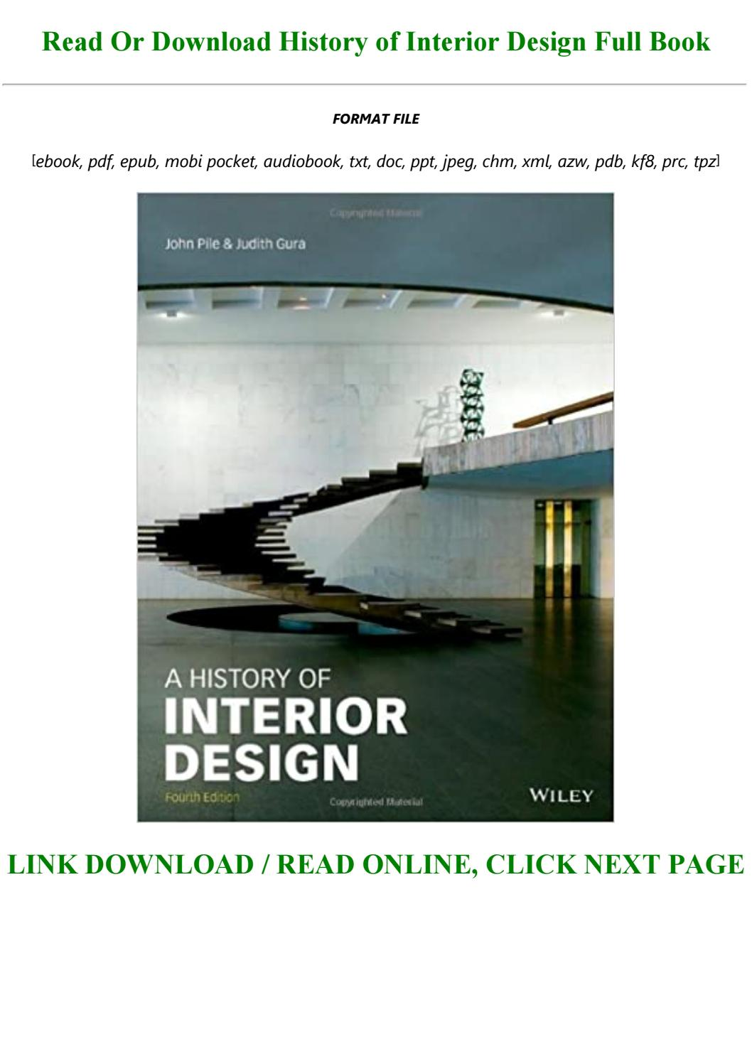 Read Book Pdf History Of Interior Design Full Acces By Rylandstevens1997 Issuu