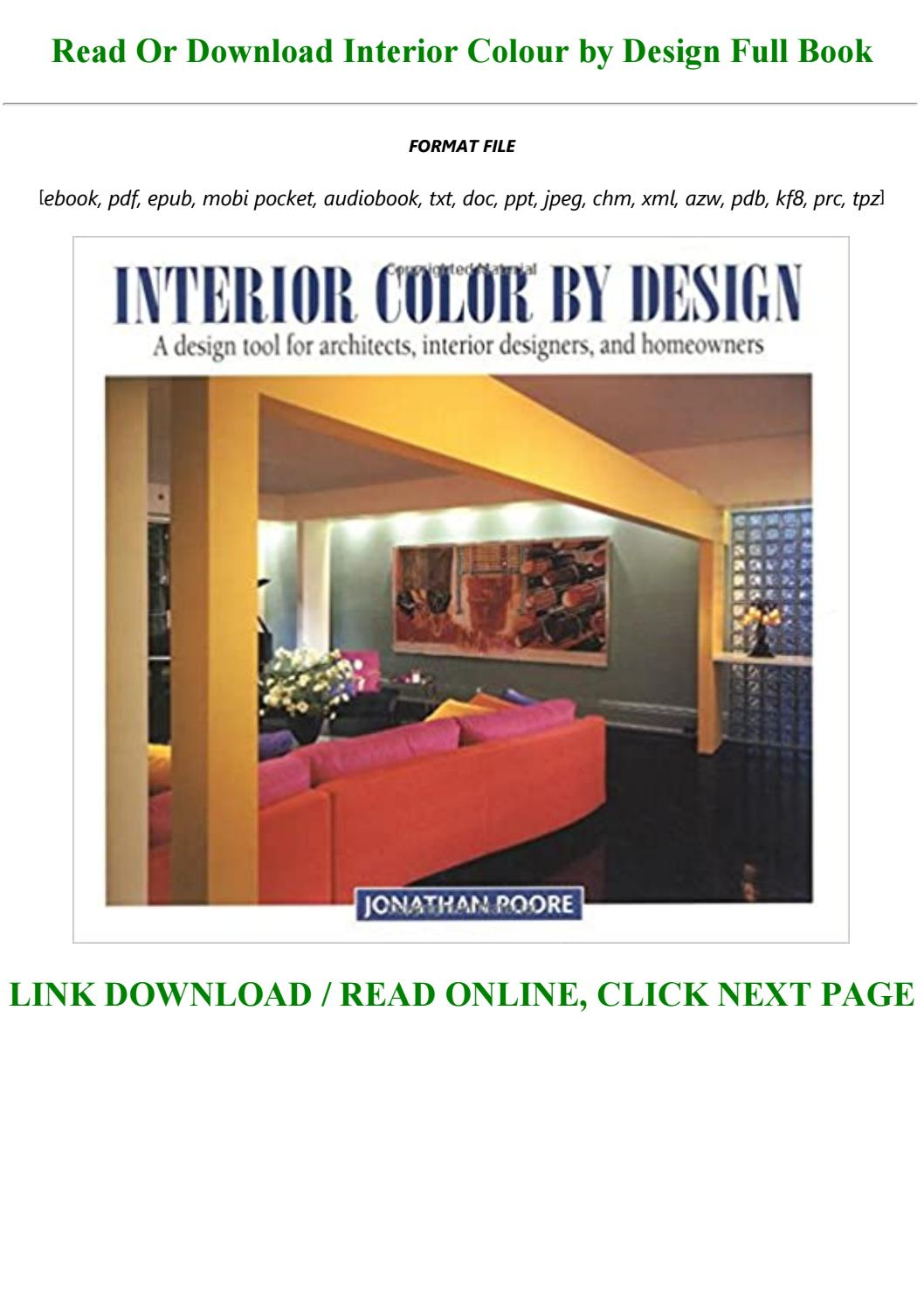 Download In Pdf Interior Colour By Design Full Pdf Online By Cesarparsons1997 Issuu