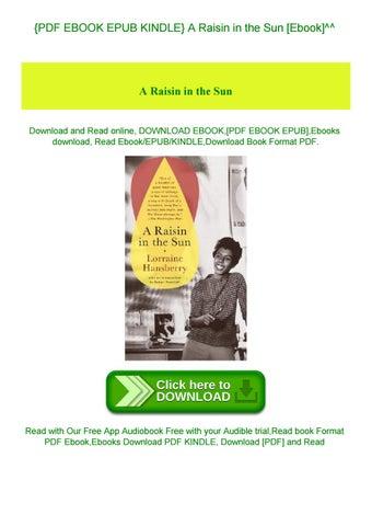 a raisin in the sun free ebook pdf