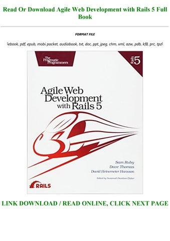 agile web development with rails 5 free download