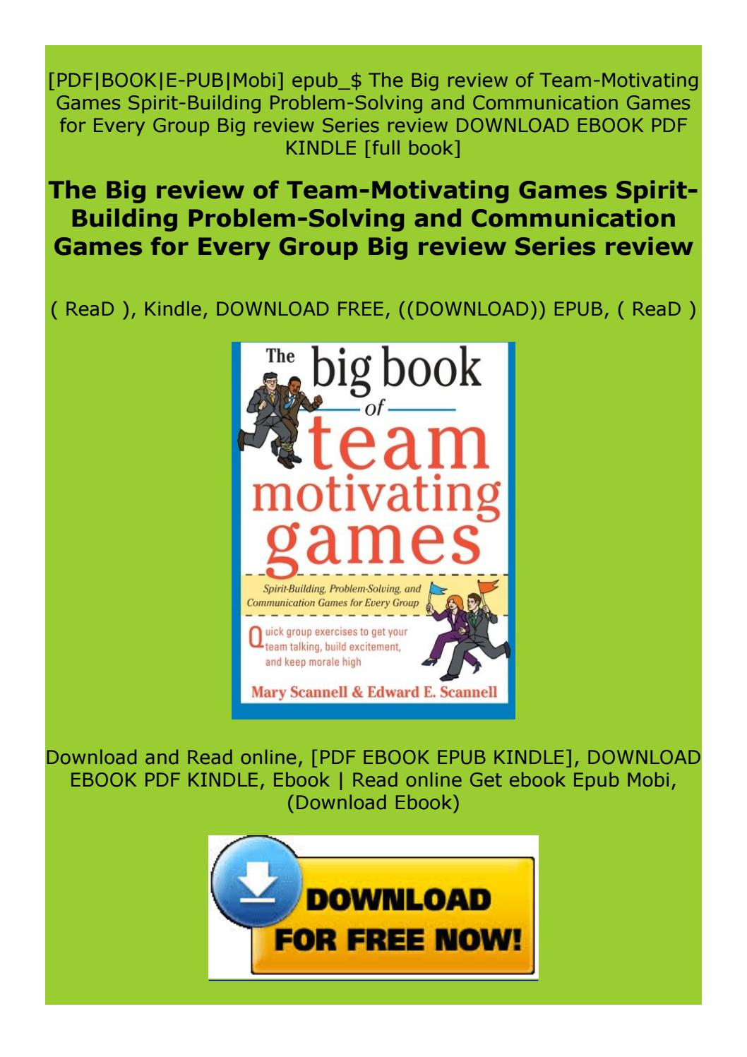 the big book of team building games free download