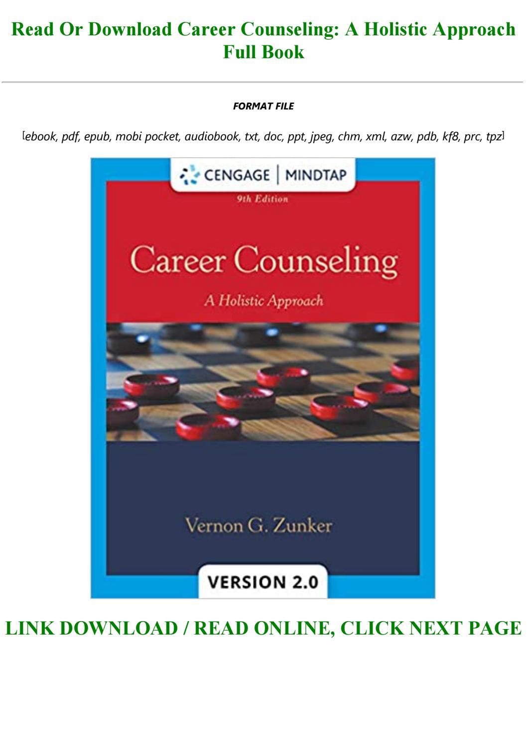 career counseling a holistic approach 9th edition pdf free