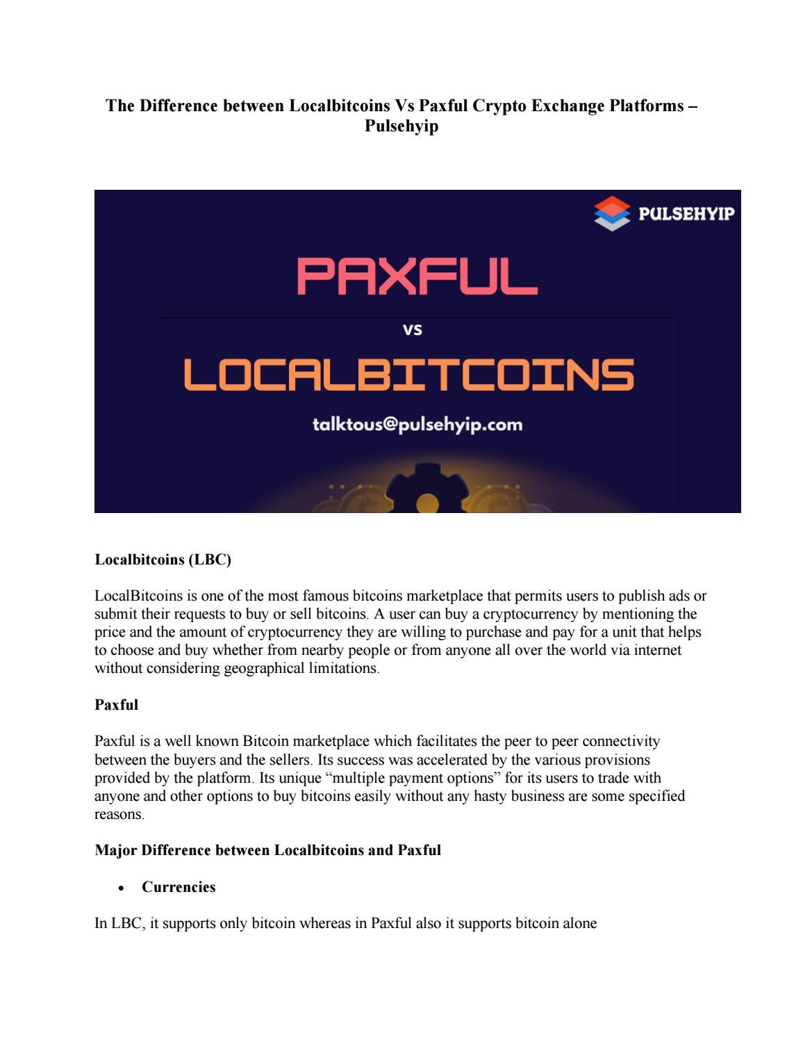 Paxful vs localbitcoins comcast rules for cricket betting