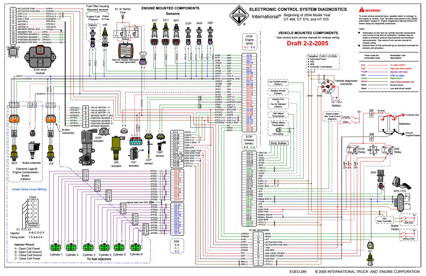 International Dt466-dt570-ht570 Engine Electrical Diagram by heydownloads -  issuuIssuu