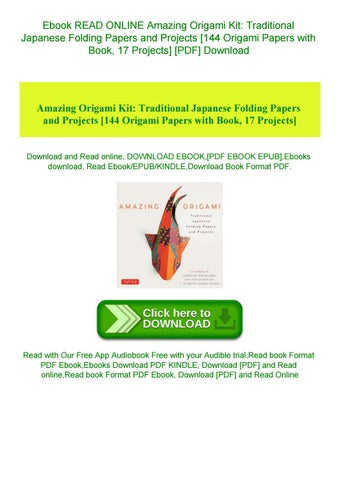 DOWNLOAD FREE Amazing Origami Kit Traditional Japanese Folding ... | 452x320