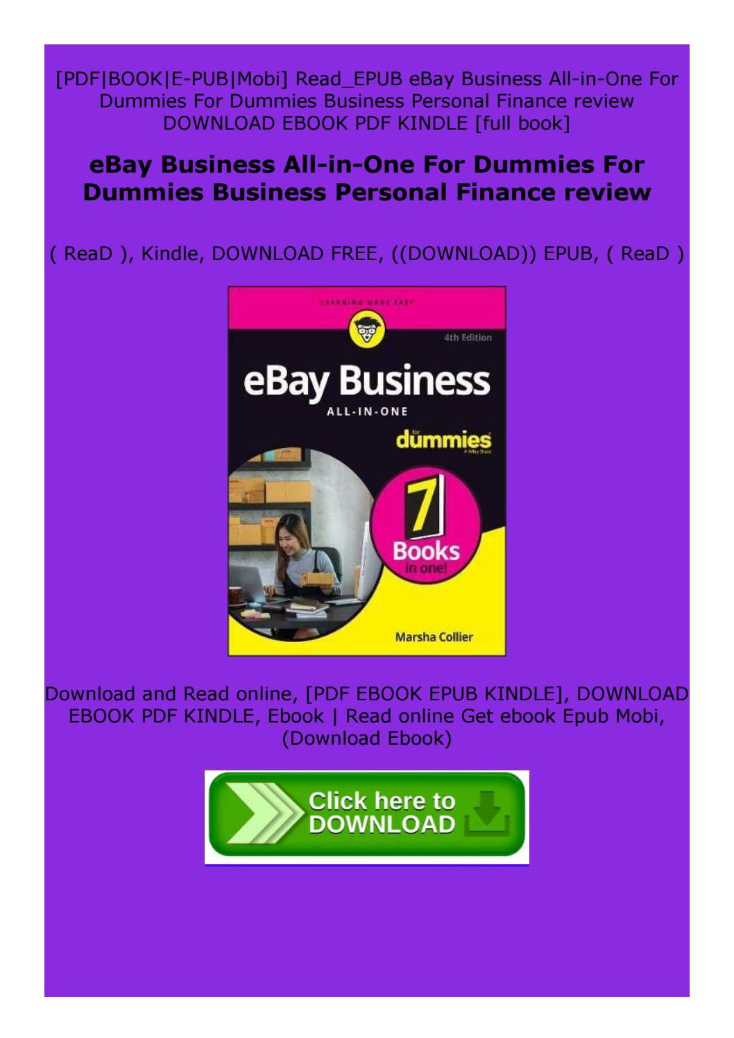 Ebay Business All In One For Dummies For Dummies Business Personal Finance Review By Zwxescdrftgh Issuu