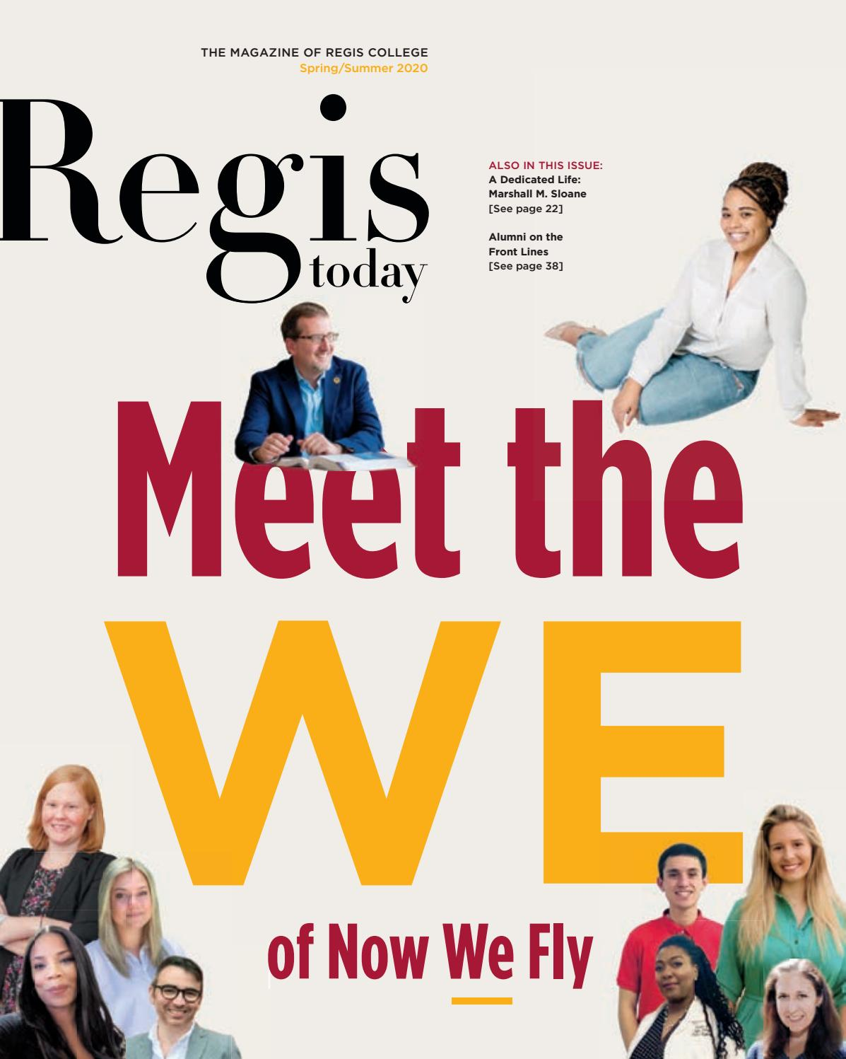 Regis Today Spring Summer 2020 By Regis College Issuu Join facebook to connect with elisabeth anne and others you may know. spring summer 2020 by regis college